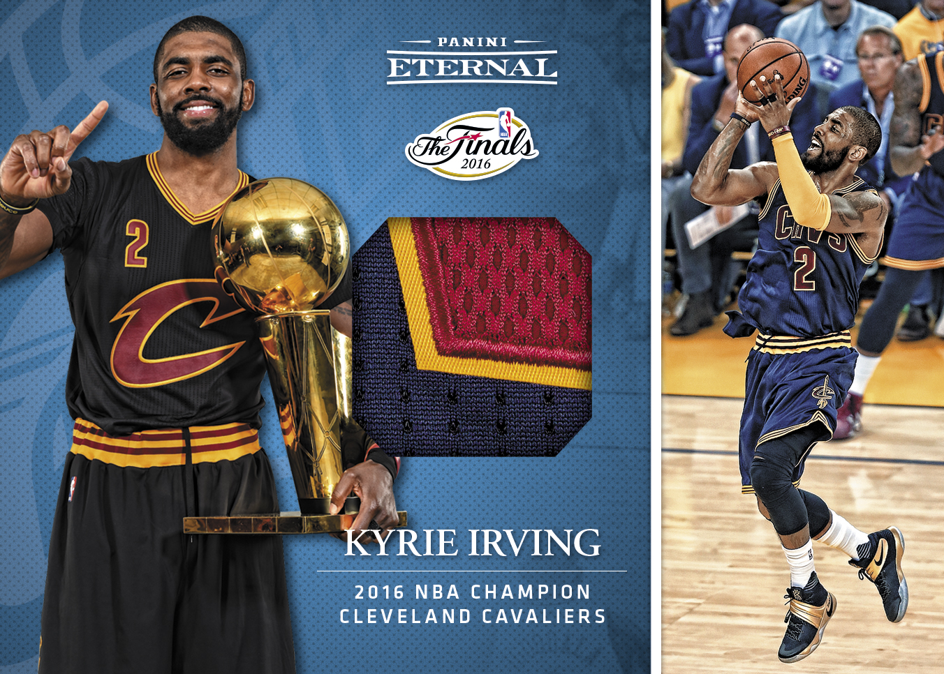 on sale 351ad e69f6 Kyrie Irving Finals Jersey - 2016 Panini Eternal Memorabilia ...