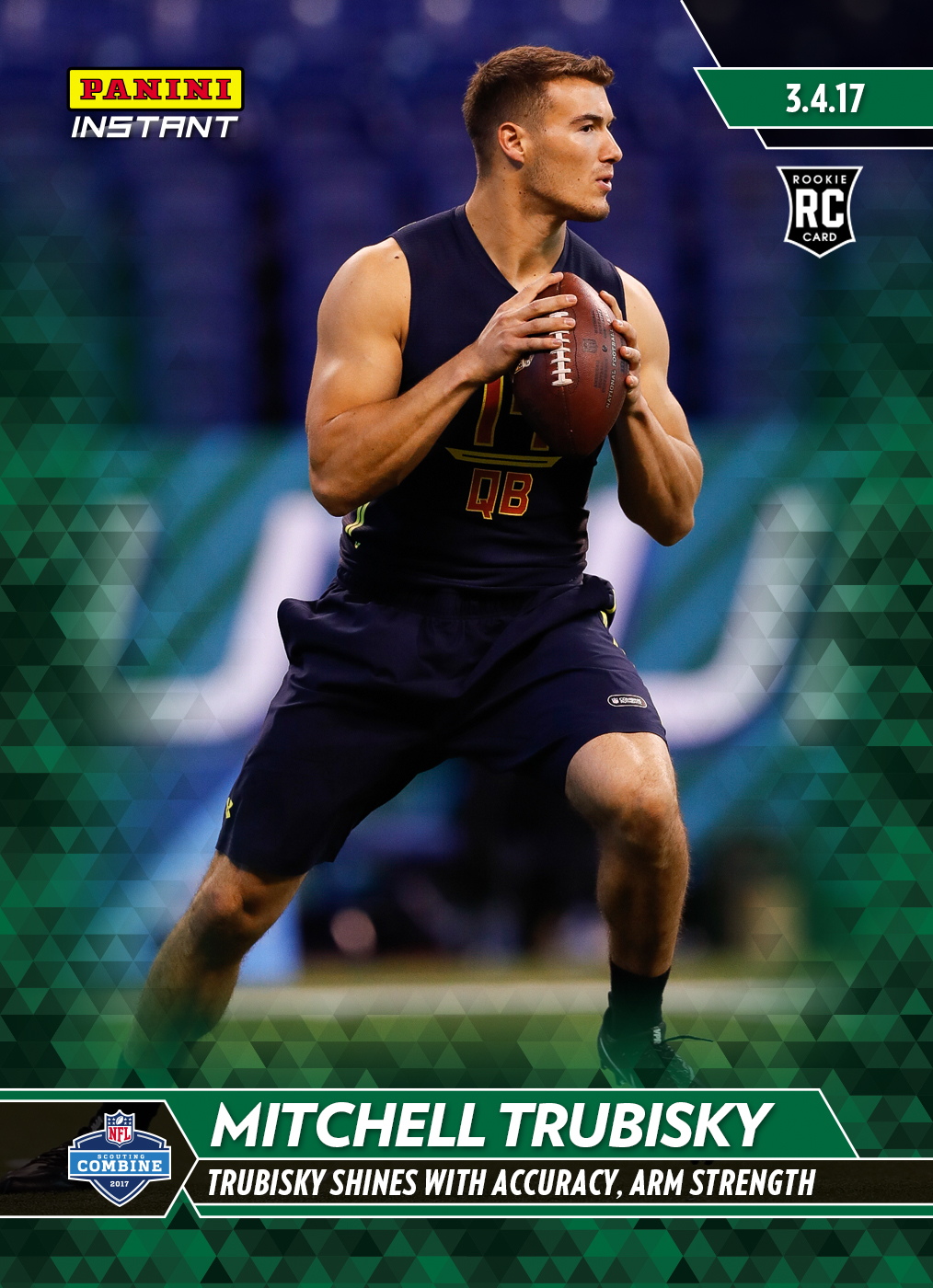 83eb497d32d Mitchell Trubisky- 2017 Panini Instant NFL Rookie Card #4 – Green 1/10 -  March 9