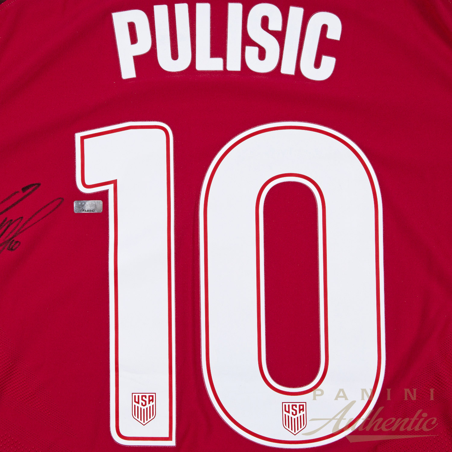 301c83cd909 Christian Pulisic Autographed in Black Nike US Men s National Team Red  10 Authentic  Jersey ~. Hover to Zoom