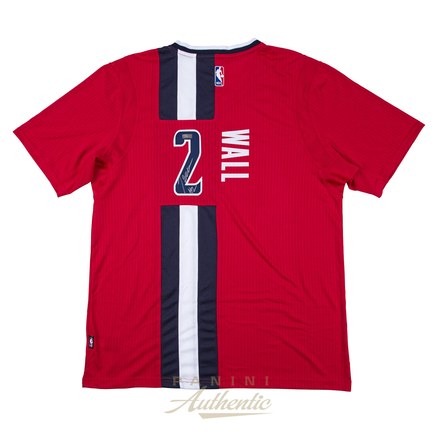 low priced 7299a a17ac John Wall Autographed Short Sleeve Red Wizards Swingman ...