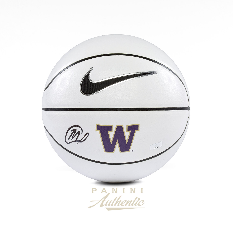 reputable site da0a3 d9141 Marquese Chriss Autographed Washington Huskies Nike White ...