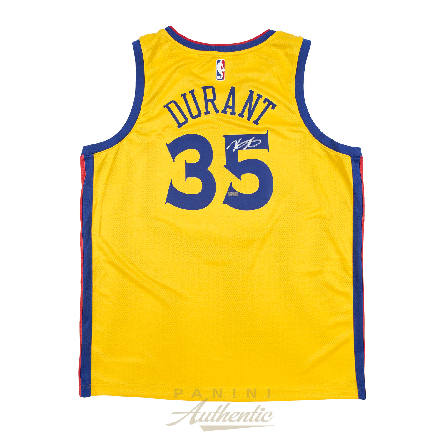 7f632e5c721 Kevin Durant Autographed Nike Golden State Warriors Yellow