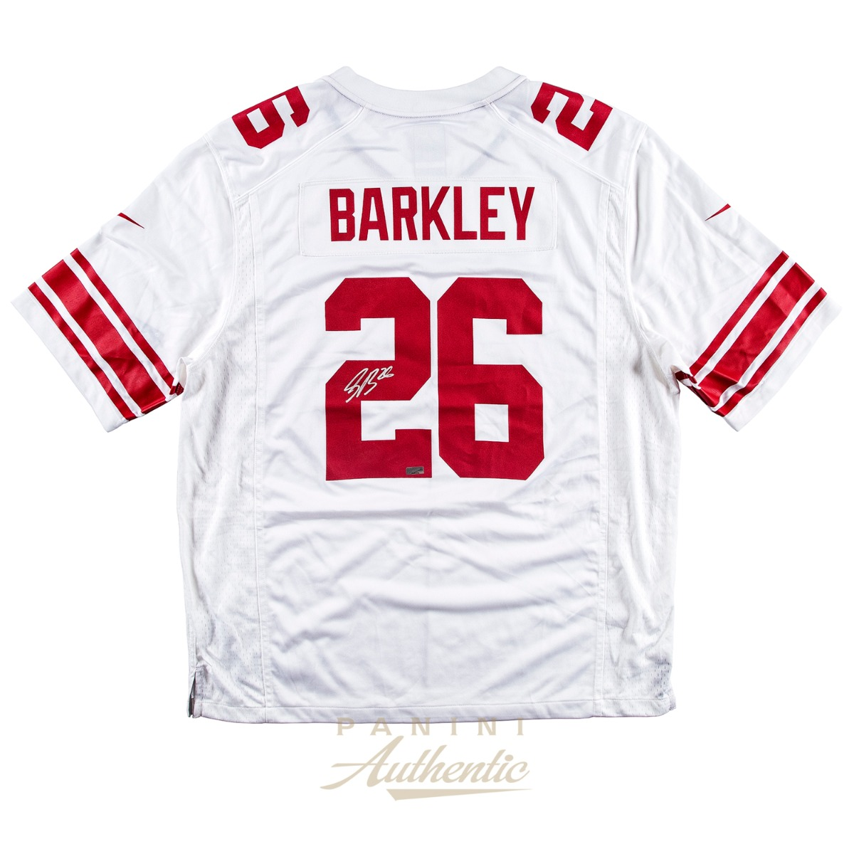 new arrival f096a 57481 Saquon Barkley Autographed New York Giants White Replica ...