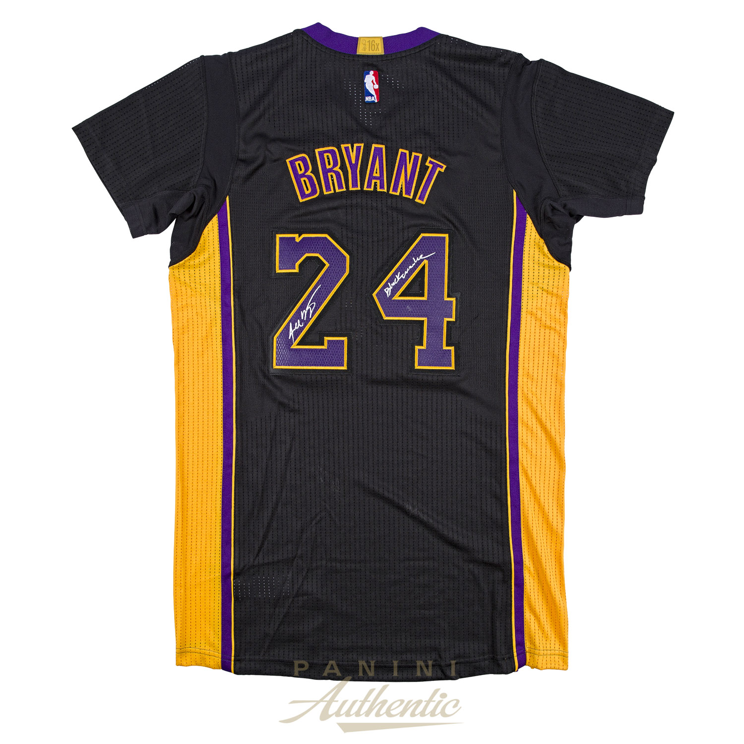 new product 6858d cba53 Kobe Bryant Autographed Black Adidas Authentic Jersey with ...