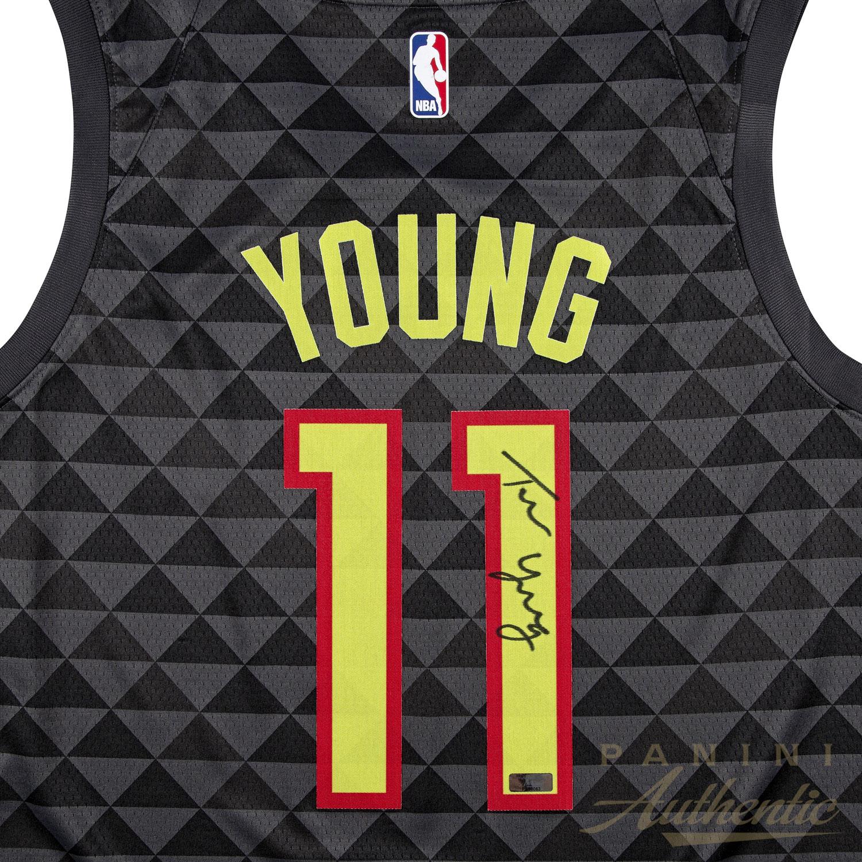 7ceece68f Trae Young Autographed Black Atlanta Hawks Replica Nike Swingman Jersey  ~Open Edition Item~. Hover to Zoom