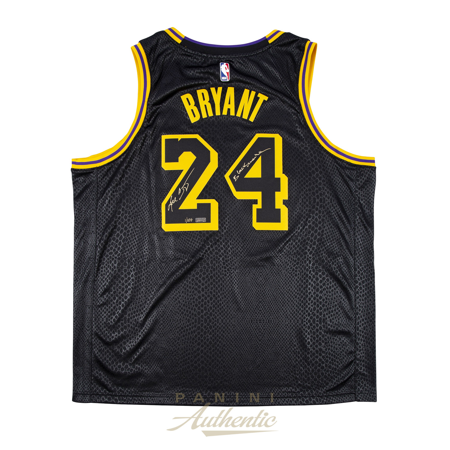 newest 039d8 d0a45 Kobe Bryant Autographed Nike City Edition Black Swingman ...