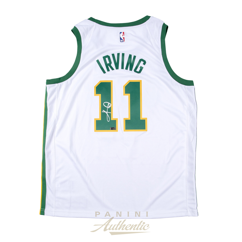 best service aeb9b c96d4 Kyrie Irving Autographed Boston Celtics Nike City Edition ...
