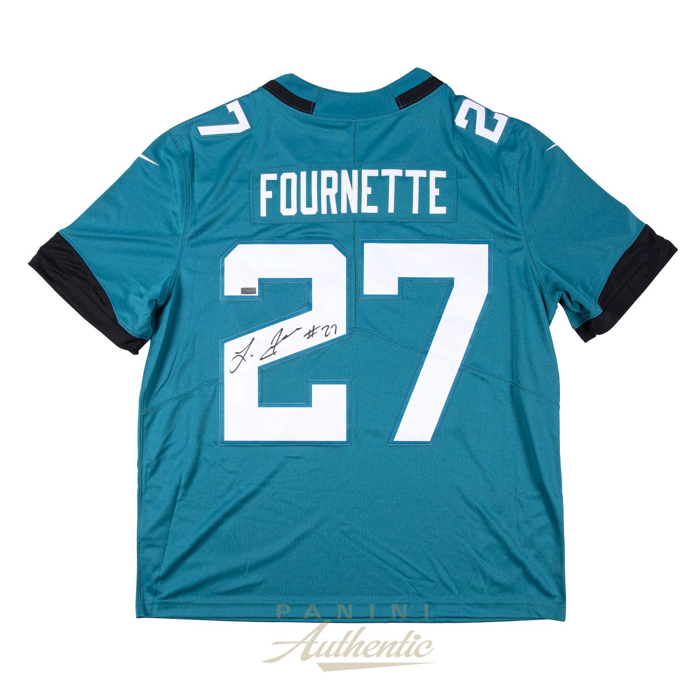 newest f3bfa 88b4d Leonard Fournette Autographed Jacksonville Jaguars Teal Nike ...