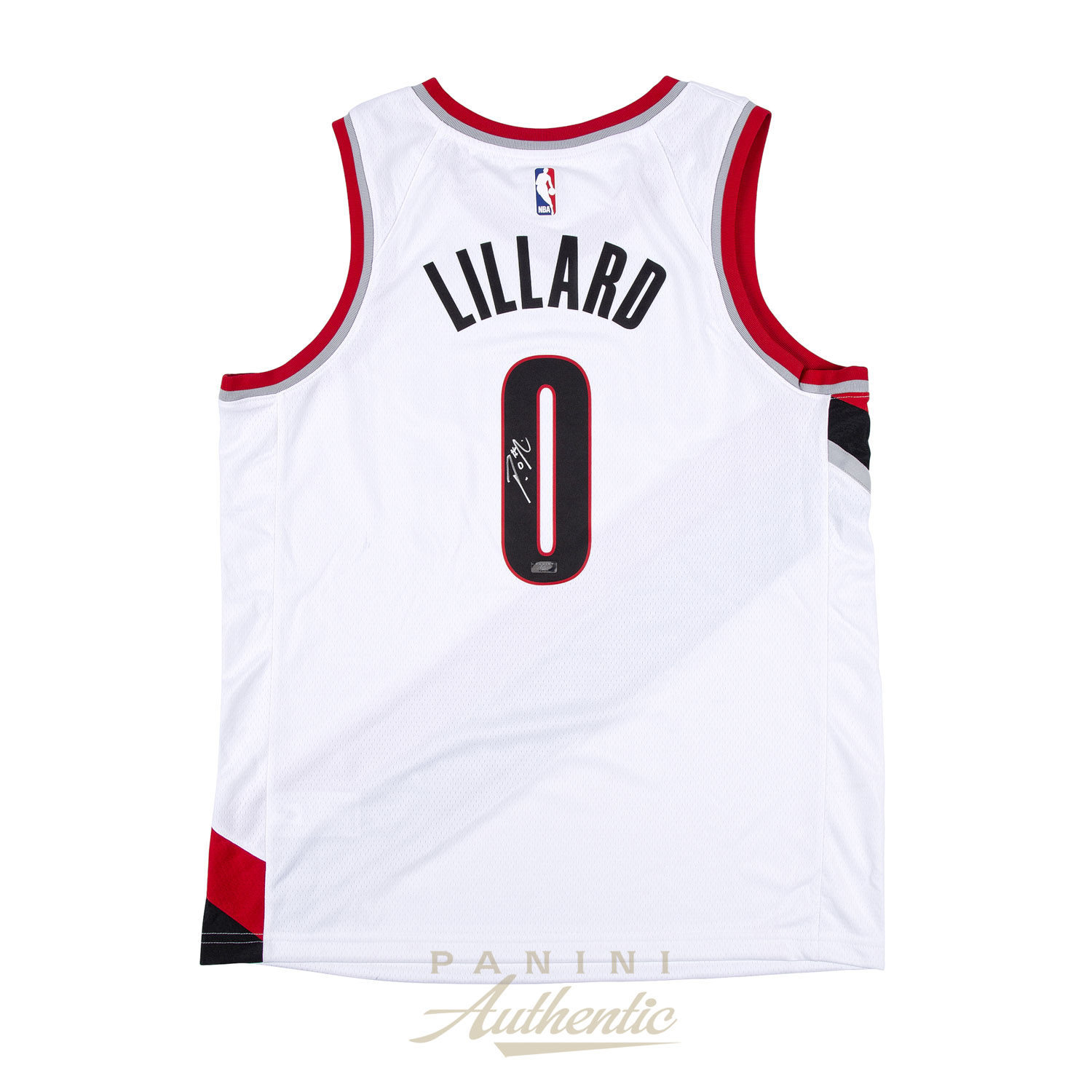 the latest c7052 365f8 Damian Lillard Autographed White Nike Portland Trailblazers ...