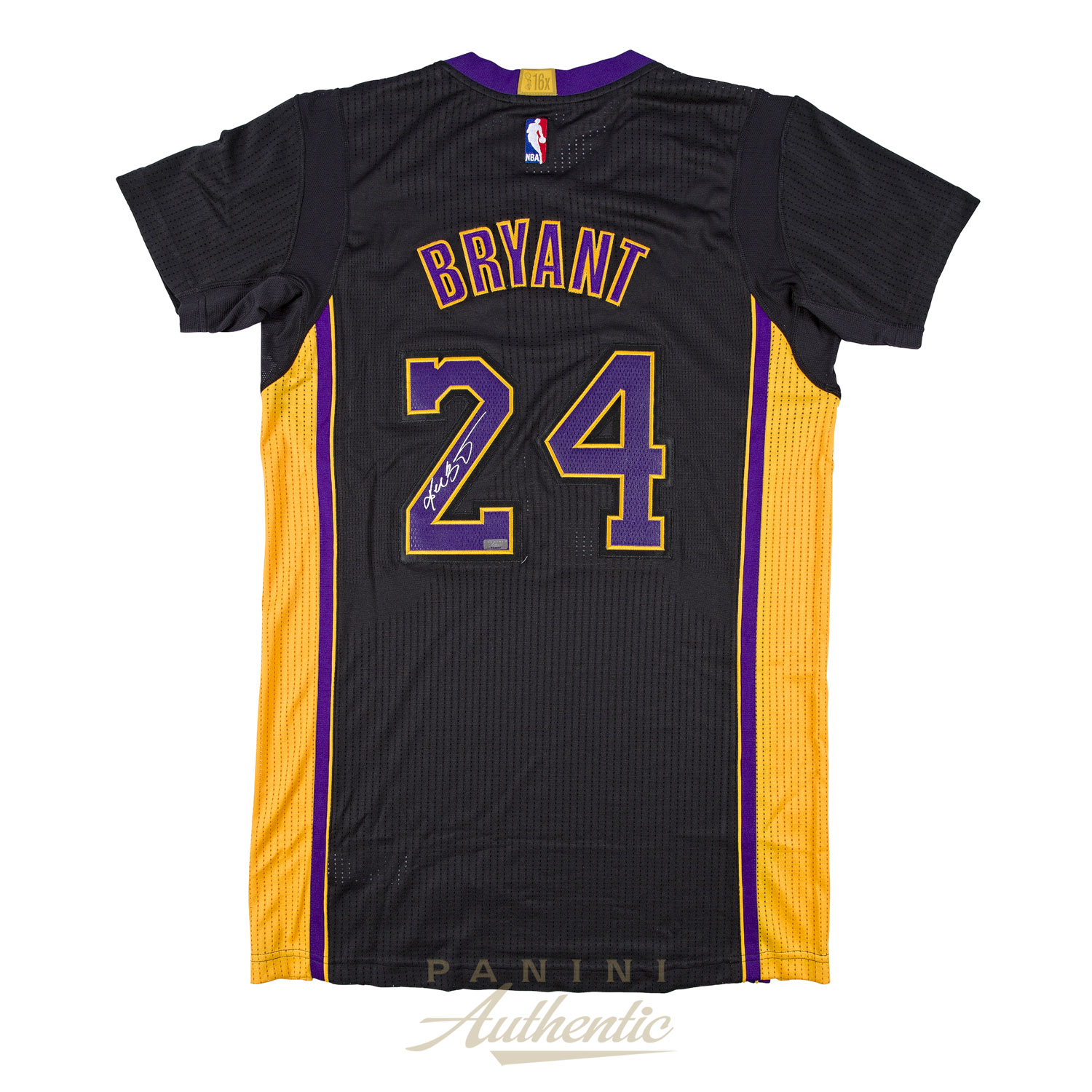 18c194af227 Kobe Bryant Autographed Adidas Authentic Black Lakers Jersey ~Open Edition  Item~