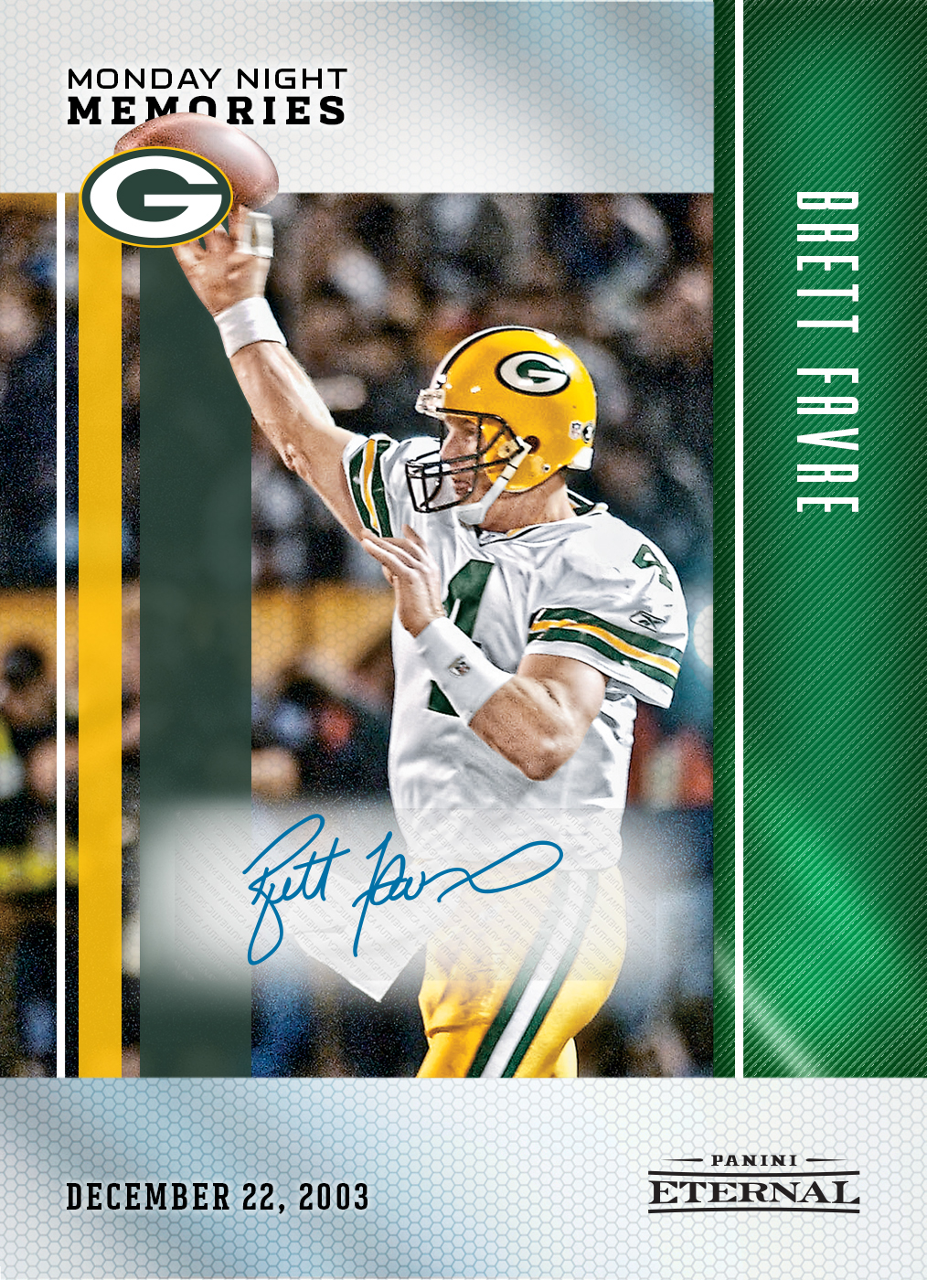 wholesale dealer bcb6f 226d7 Brett Favre – 2017 Panini Eternal Monday Night Memories #13 ...