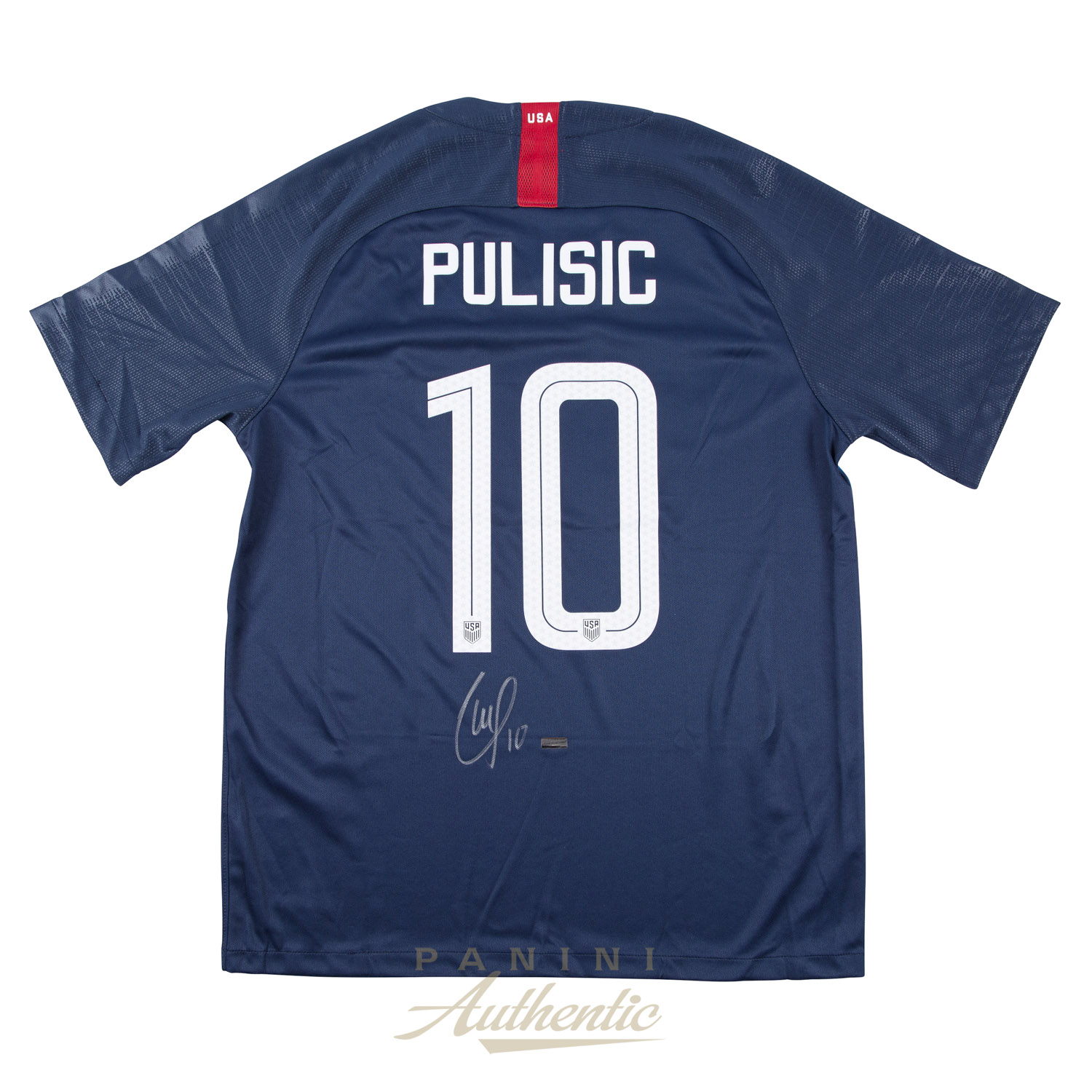 best service 69e9a a0ae0 Christian Pulisic Autographed 2018 Nike US Men's National ...