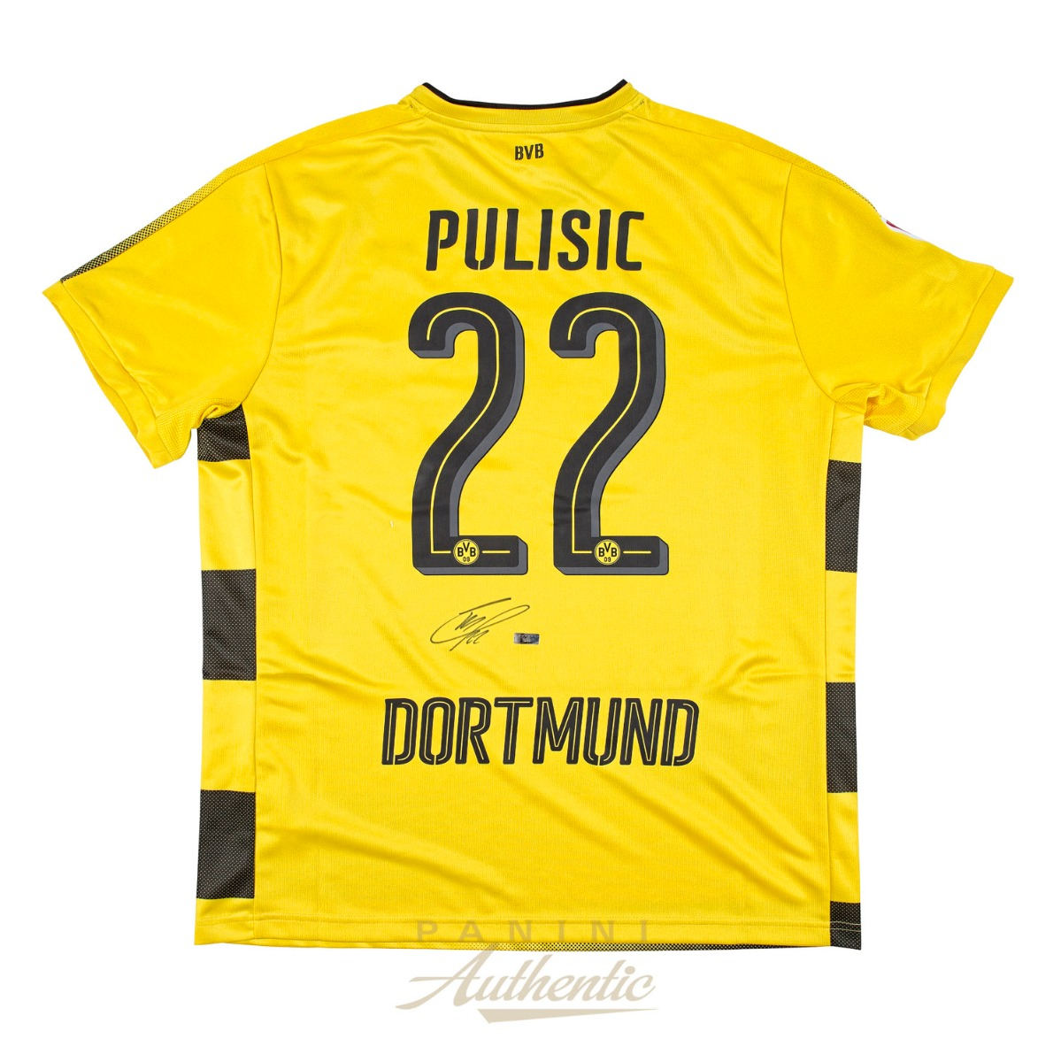 3b2549a6c Christian Pulisic Autographed Borussia Dortmund Yellow  22 Replica Jersey  ~Open Edition Item~