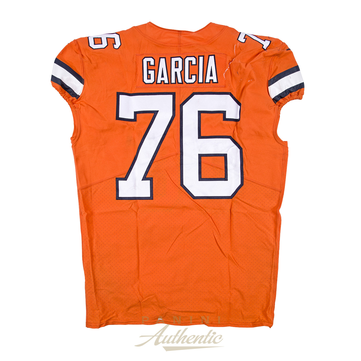 Max Garcia Game Worn Denver Broncos Jersey & Pant Set From 121417