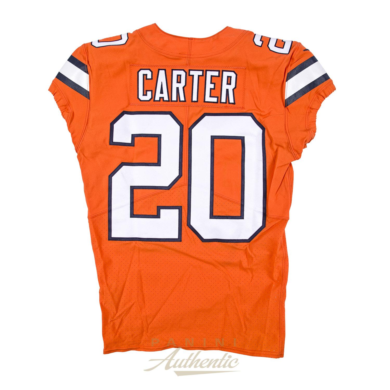buy online d6ff8 00fd0 Jamal Carter Game Worn Denver Broncos Jersey & Pant Set From ...