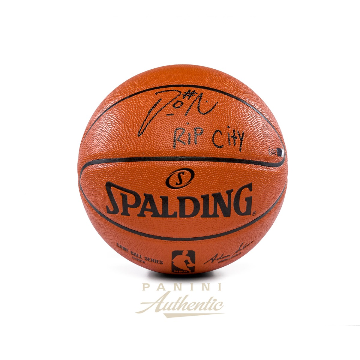 9f0512b59 Damian Lillard Autographed Replica Spalding Basketball with