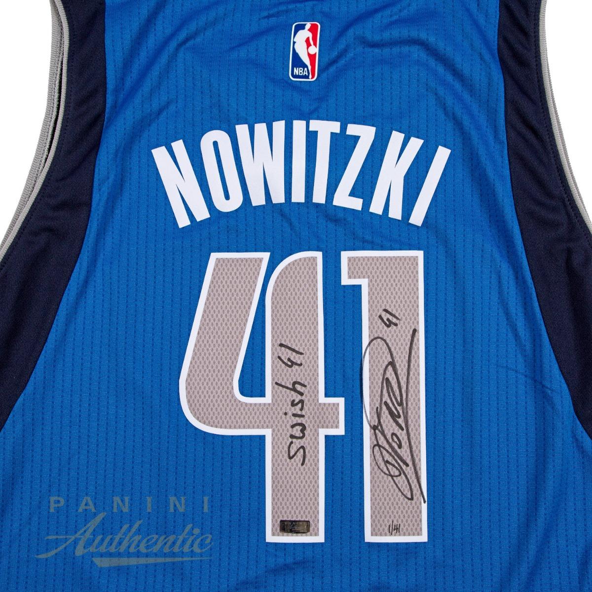 wholesale dealer 864d8 f85e8 Dirk Nowitzki Autographed Royal Blue Dallas Mavericks Adidas ...