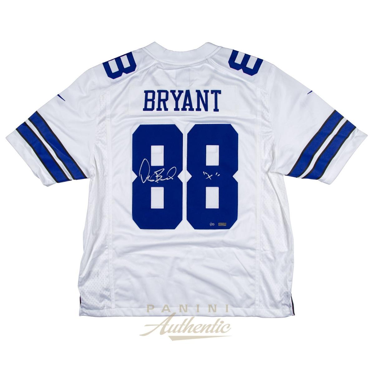 san francisco 1bf98 1590a Dez Bryant Autographed White Dallas Cowboys Nike Limited ...