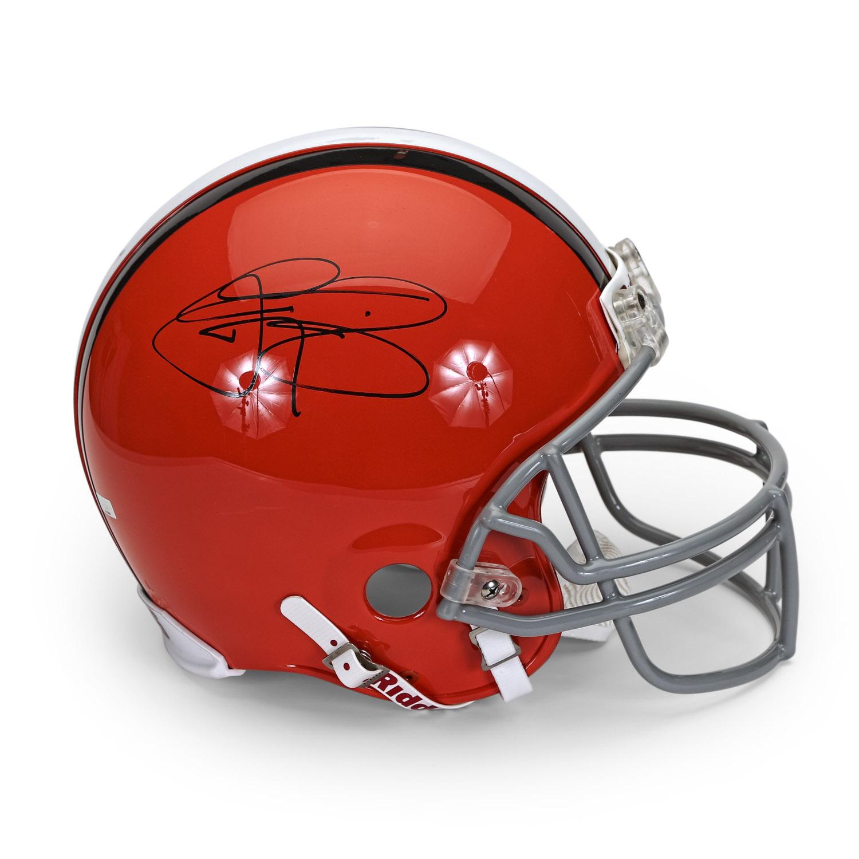 579cb1ff Johnny Manziel Autographed Cleveland Browns Authentic Helmet ~Open ...