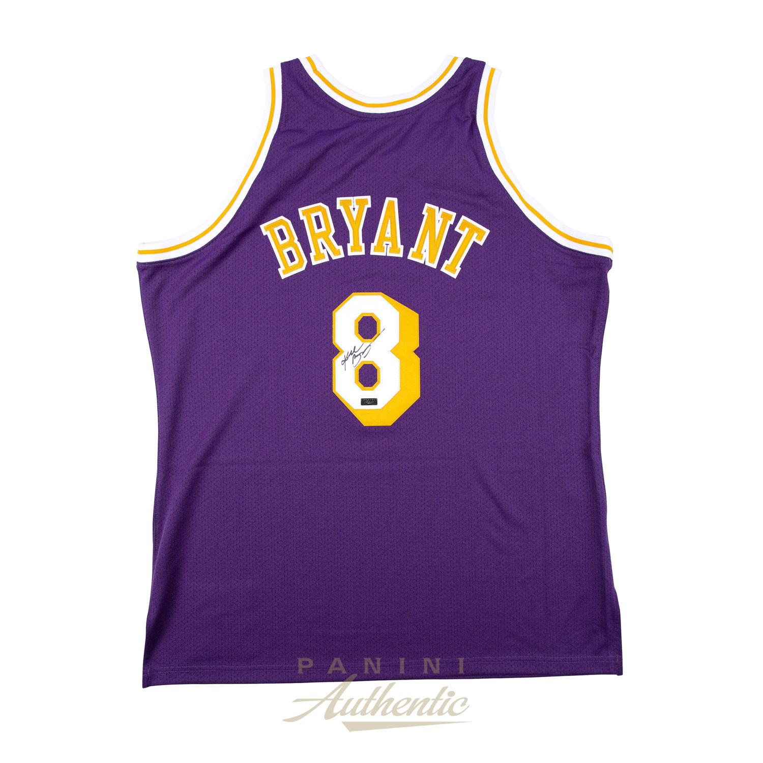 83909fd132a Kobe Bryant Autographed 1996-97 Mitchell   Ness Purple Authentic  8 Los  Angeles Lakers Jersey ...