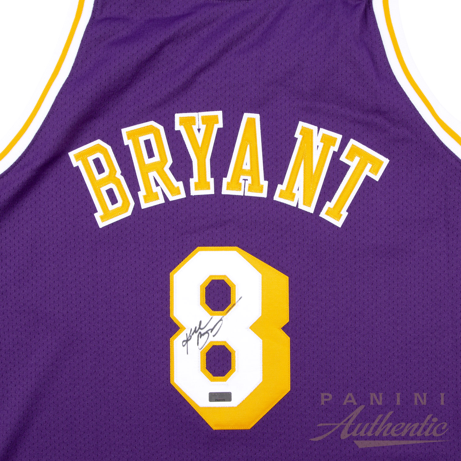 6445620aa7a Kobe Bryant Autographed 1996-97 Mitchell   Ness Purple Authentic  8 Los  Angeles Lakers. Hover to Zoom