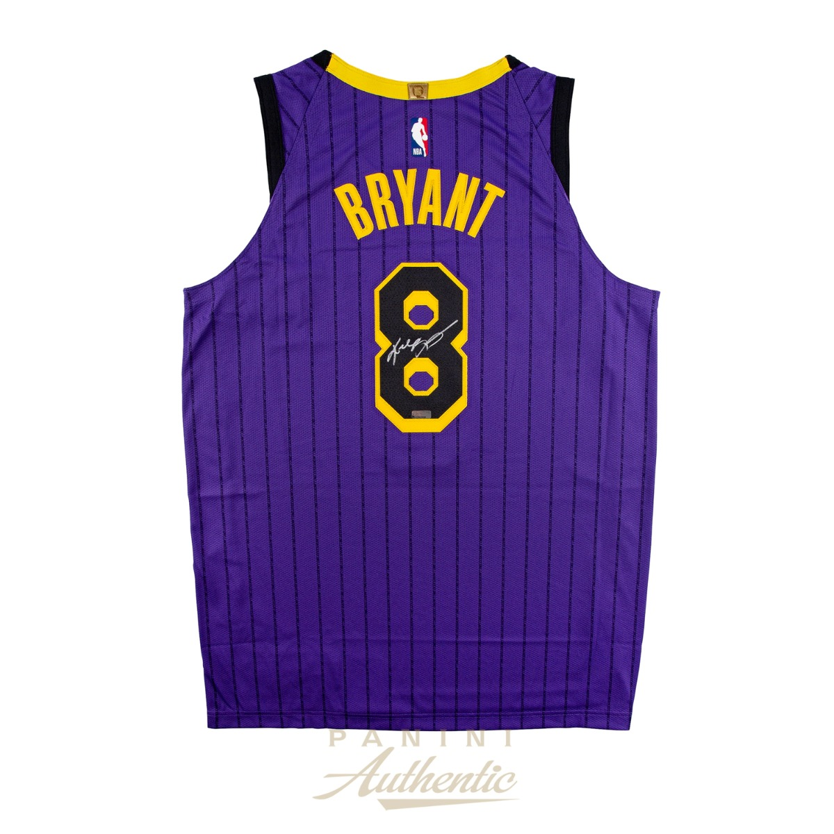 on sale 401c7 2c02d Kobe Bryant Autographed #8 LA Lakers 2019 Nike City Edition ...