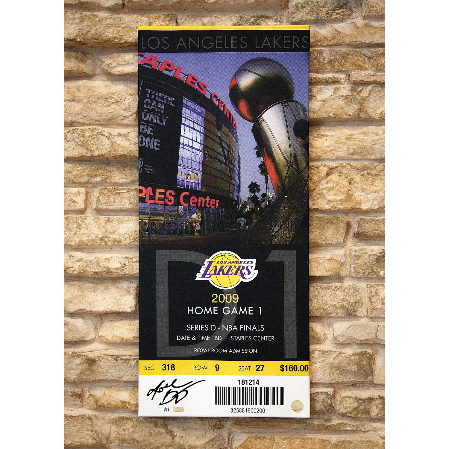 the latest f7633 9f1c7 Kobe Bryant Autographed Oversized 2009 NBA Finals Canvas ...