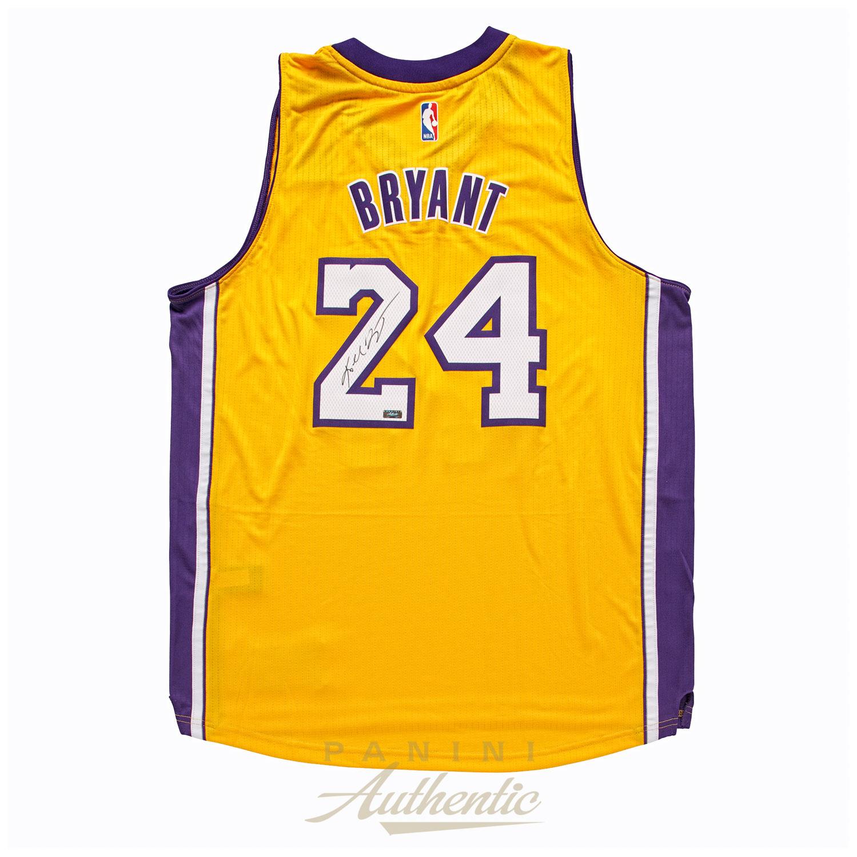quality design 112b8 2067d Kobe Bryant Autographed Adidas Gold Lakers Swingman Jersey ...