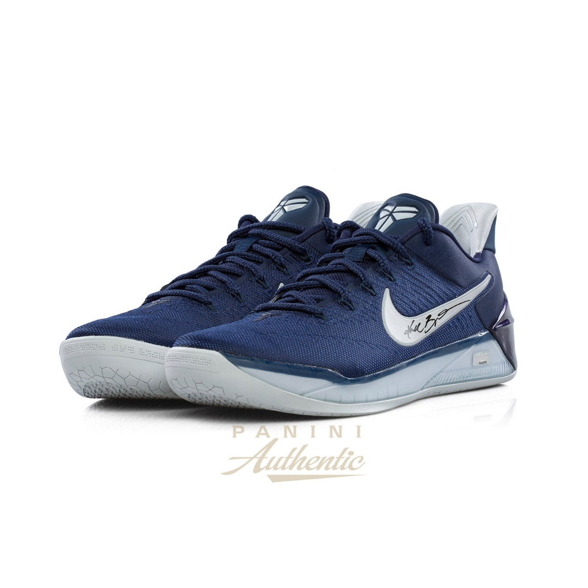 sports shoes 8707f 684bb Kobe Bryant Autographed Navy Blue Nike Kobe A.D. Shoe ~Open ...