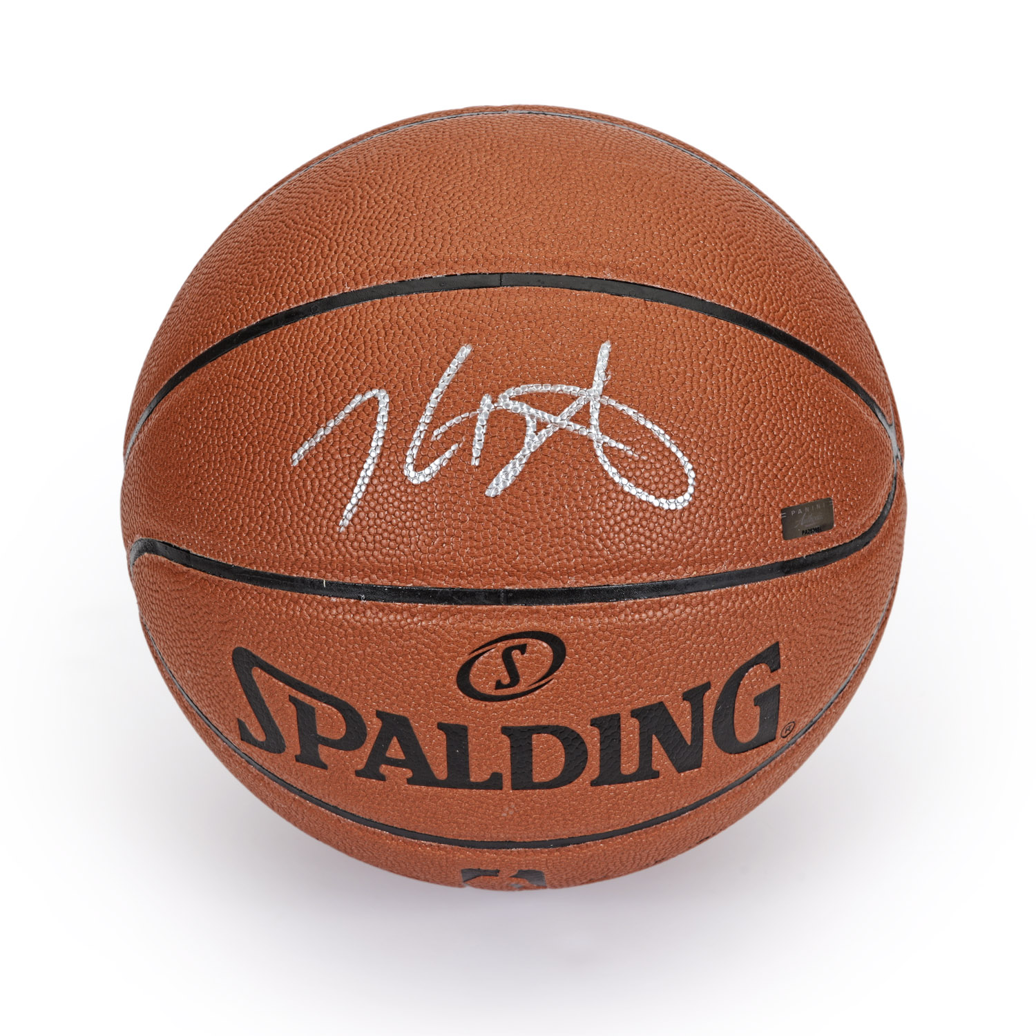 the best attitude c7400 c77d1 Kevin Durant Autographed in Silver Spalding Replica ...