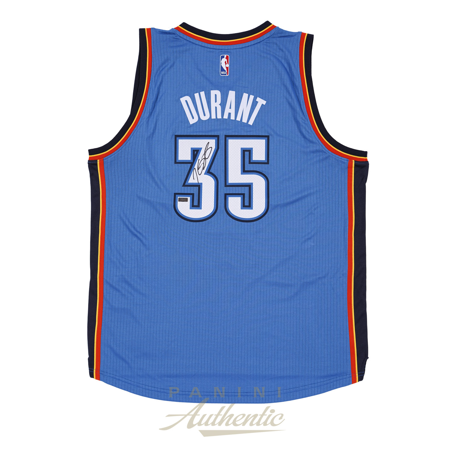 3781e206d Kevin Durant Autographed Adidas Blue Thunder Swingman Jersey ~Open Edition  Item~