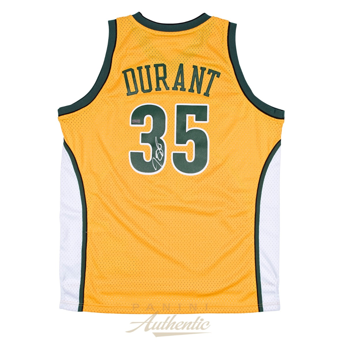 KD Jersey Kevin Durant Autographed Yellow Supersonics Swingman Jersey ~ Open ...
