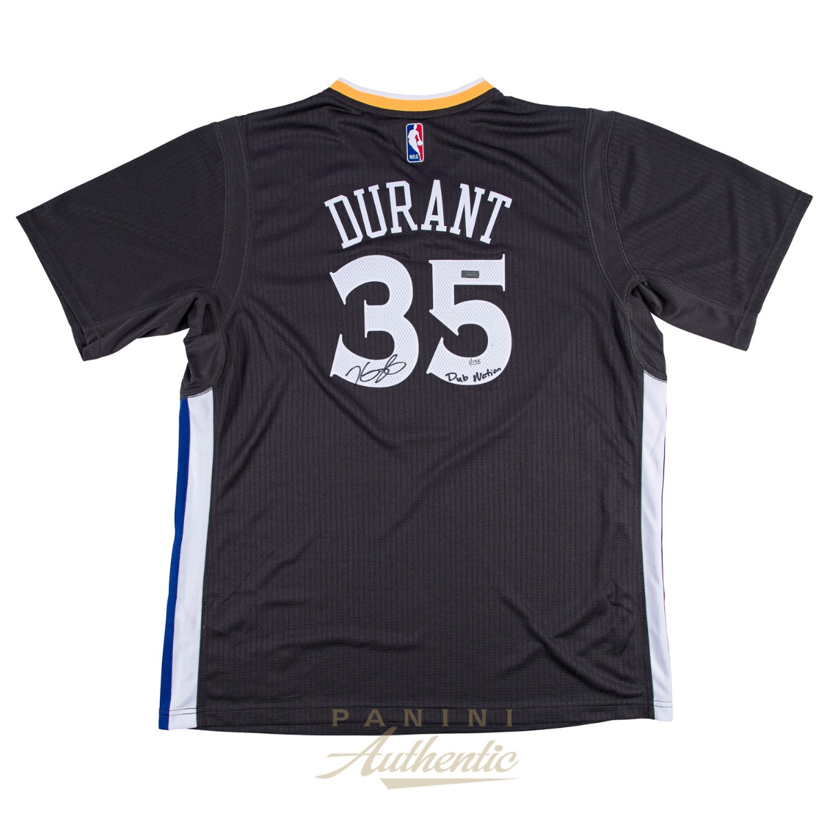 65dfa9071c5 Kevin Durant Autographed Charcoal Short Sleeve Golden State Warriors  Swingman Jersey with