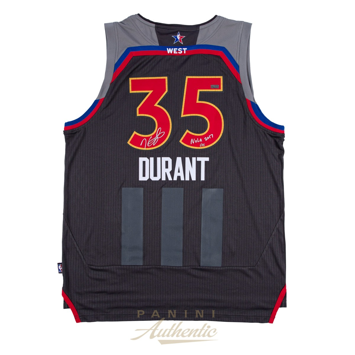 online store eac49 0e9c8 Kevin Durant Autographed 2017 All Star Swingman Jersey with ...