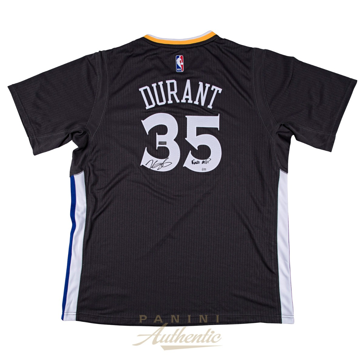 size 40 be4af 571cd Kevin Durant Autographed Charcoal Golden State Warriors ...