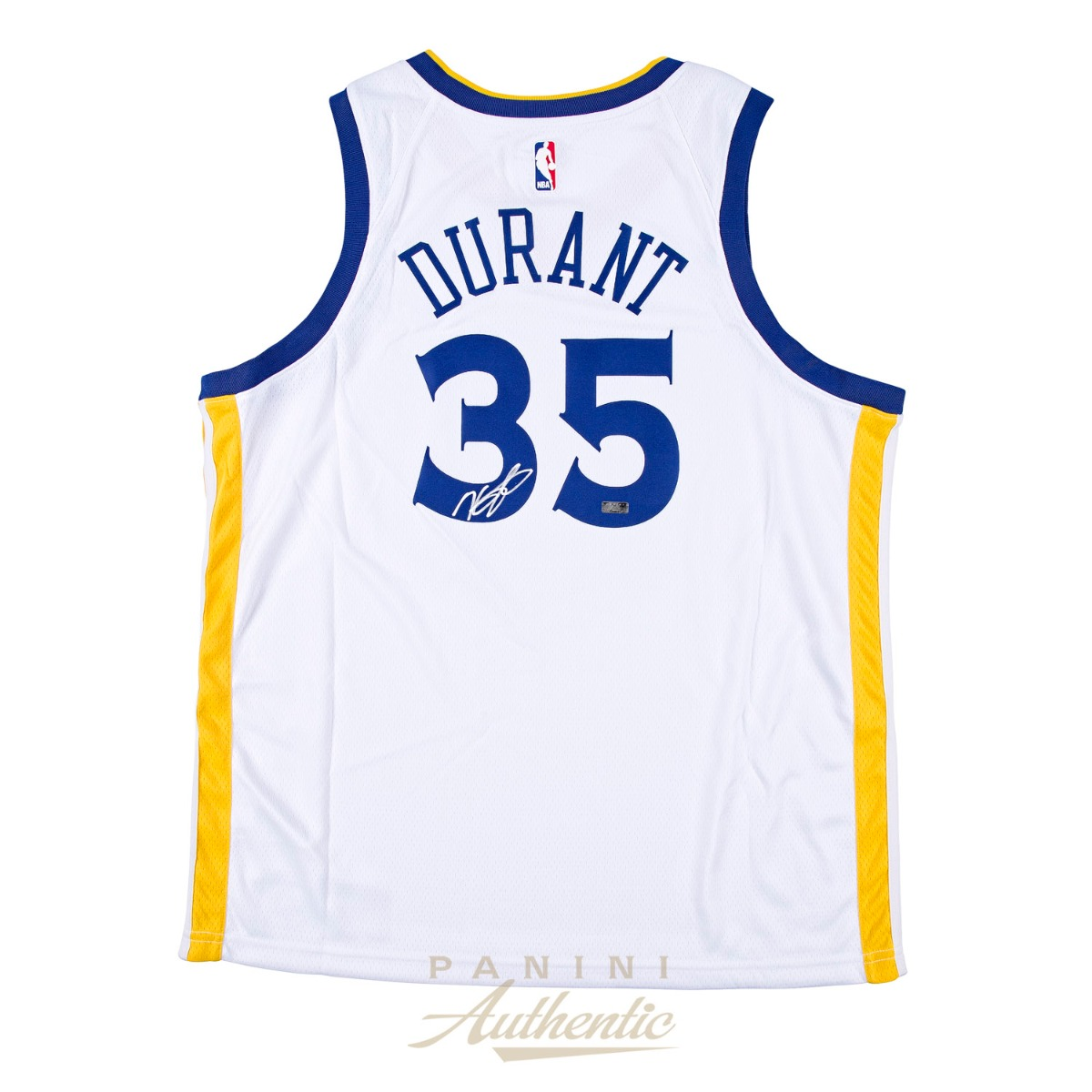 competitive price 3378e 9a0e4 Kevin Durant Autographed Nike White Golden State Warriors ...