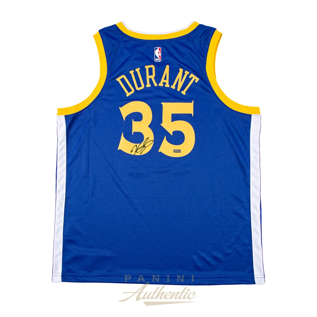official photos 17edf b188c Kevin Durant Autographed Nike Blue Golden State Warriors ...