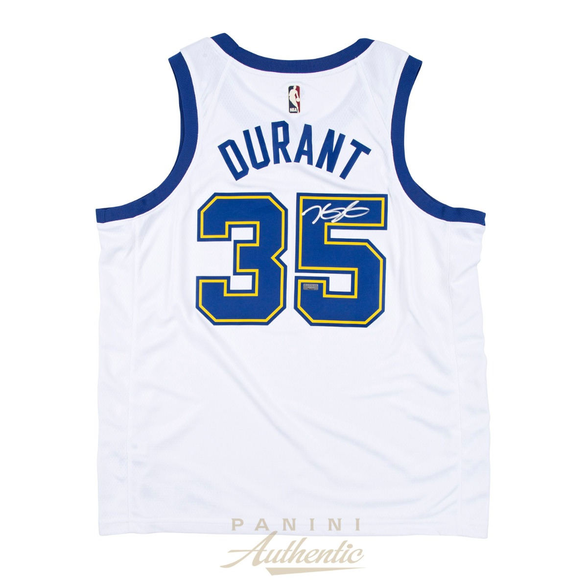 timeless design 97ff4 4a548 Kevin Durant Autographed Nike Golden State Warriors Hardwood ...