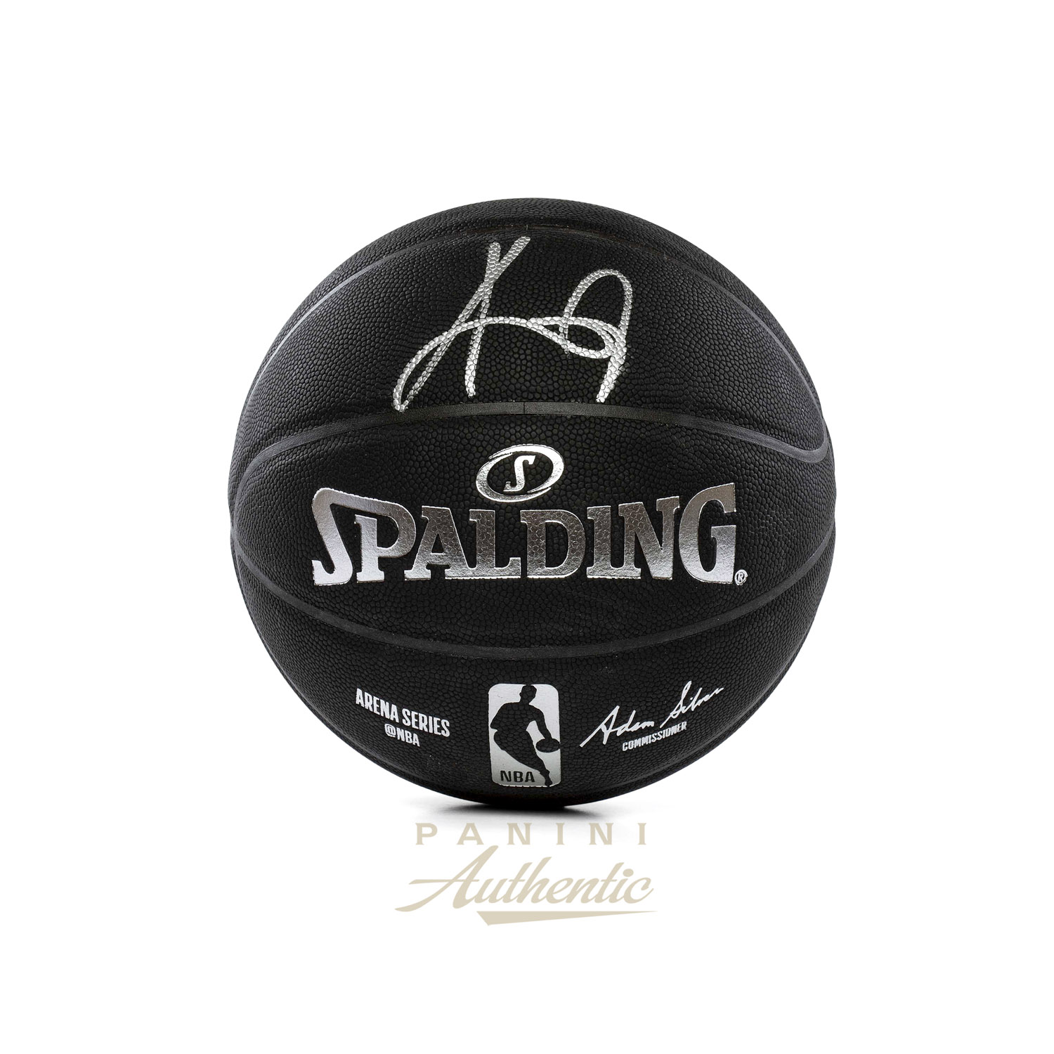 new style 08708 7b217 Kyrie Irving Autographed Black Spalding Replica Basketball ...