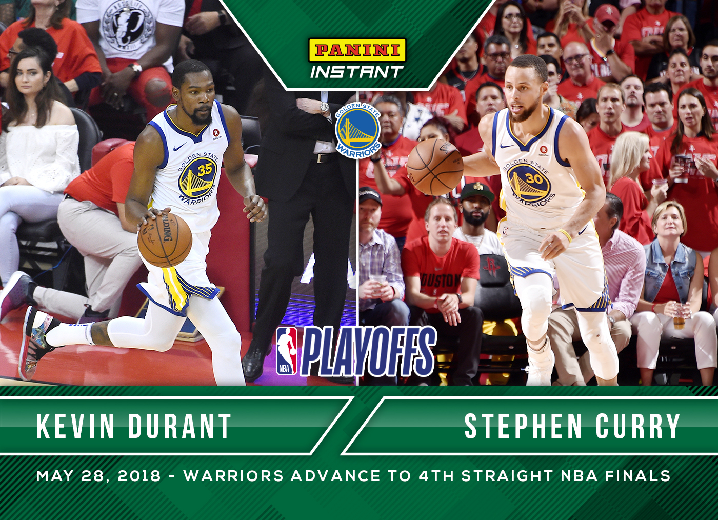 reputable site 9fb85 c20d3 Kevin Durant & Stephen Curry - 2017-18 Panini Instant NBA ...