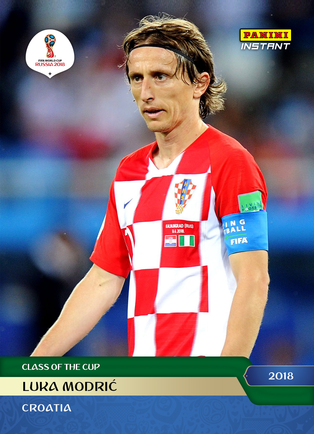 online store 114c9 c5f82 Luka Modric - 2018 Instant Soccer World Cup #7 – Green 1/10 ...