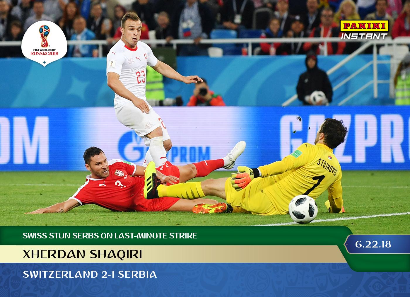 63e272254c0 Xherdan Shaqiri - 2018 Instant Soccer World Cup #55 – Green 1/10 – June 23