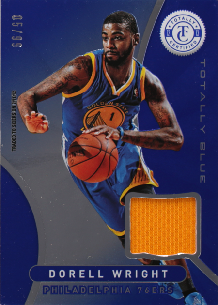 low priced bd7ab a8152 Dorell Wright-Totally Certified-Totally Blue Memorabilia