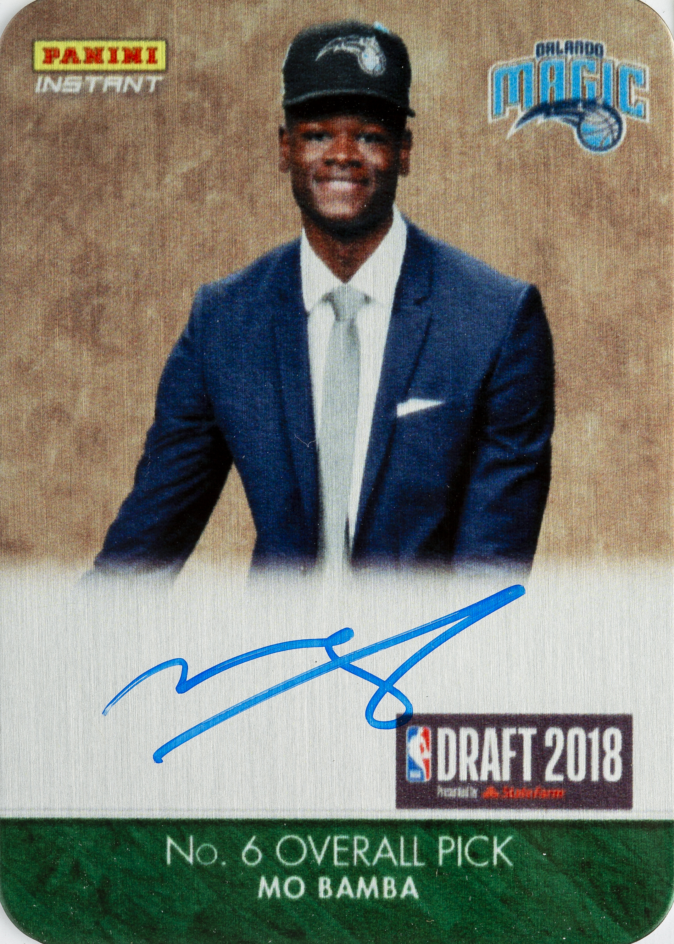 Mo Bamba - 2018-19 Panini Instant Metal RPS Autographs