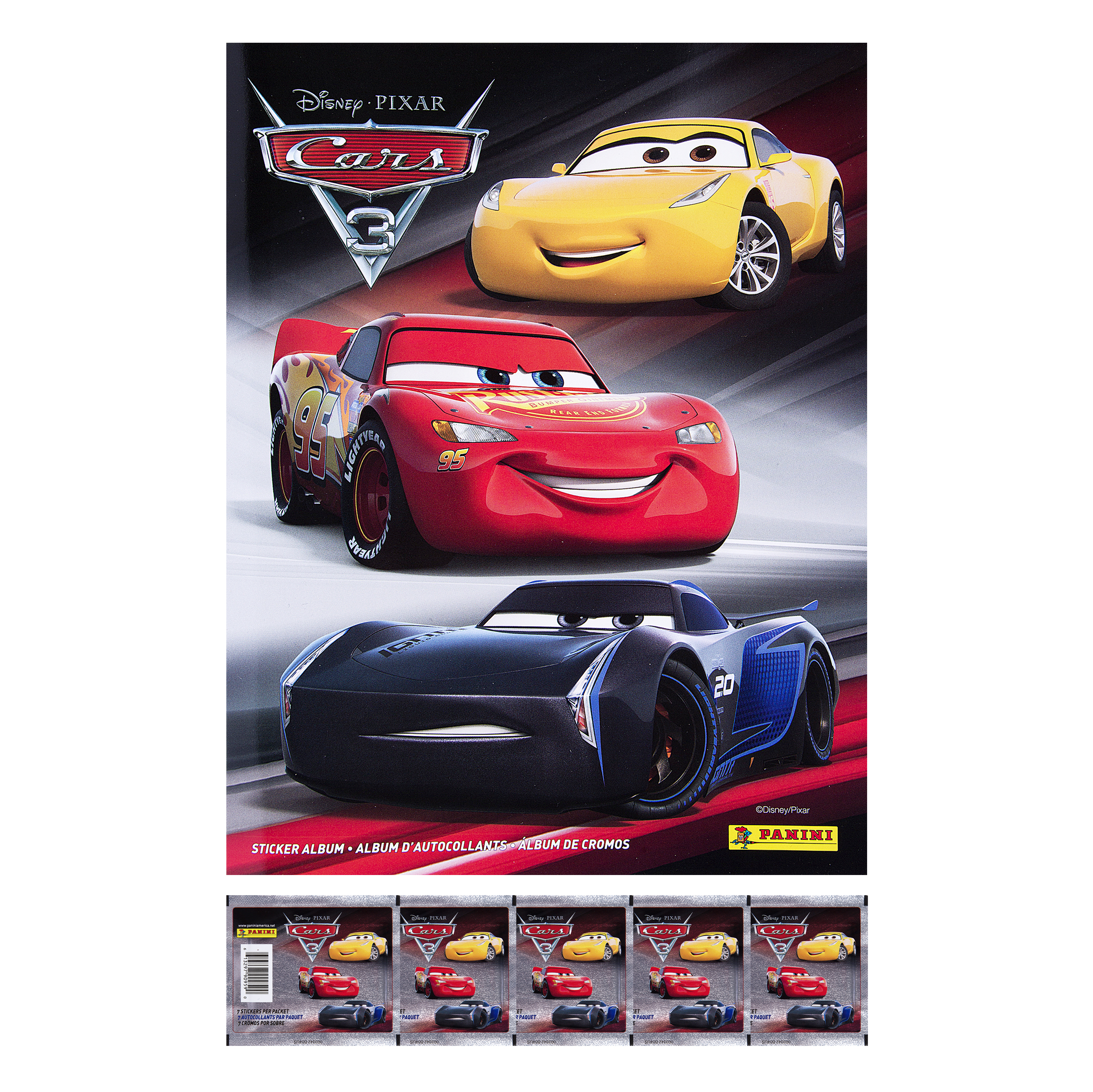 Cars 3 Movie Sticker Collection Combo