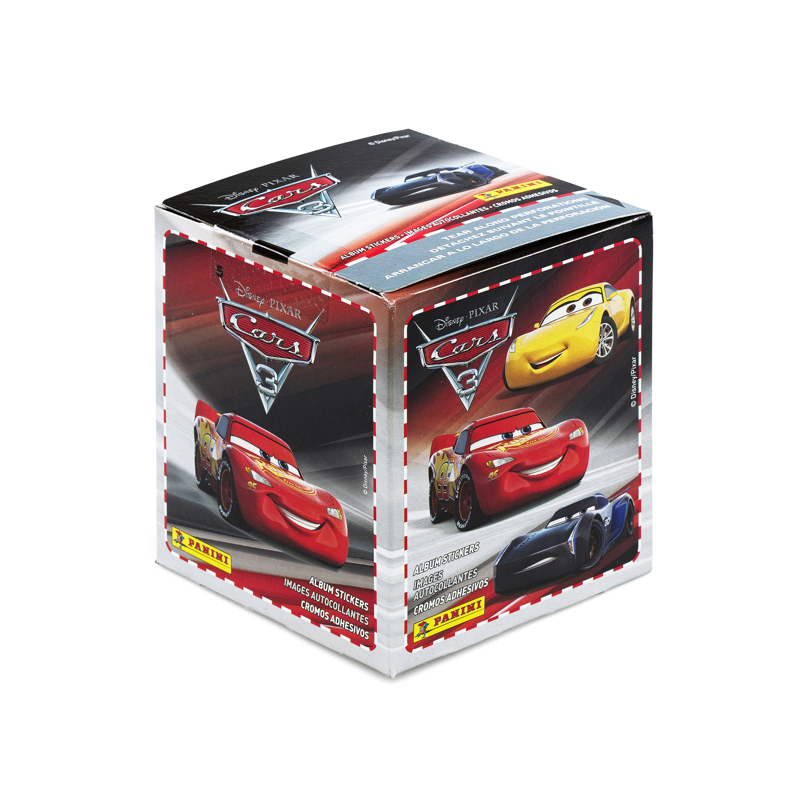 Cars 3 Movie Sticker Collection 50 Pack Box