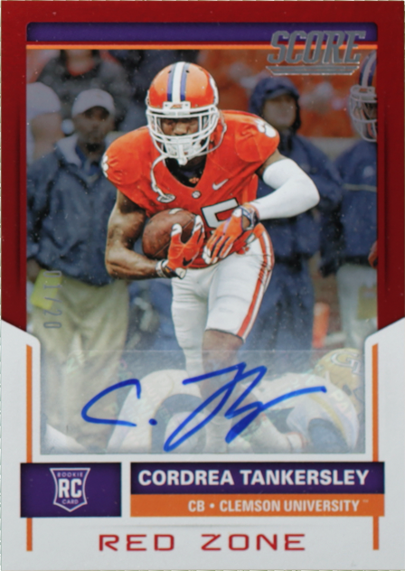 finest selection c7285 90417 Cordrea Tankersley- Score- Rookie Signatures Red Zone