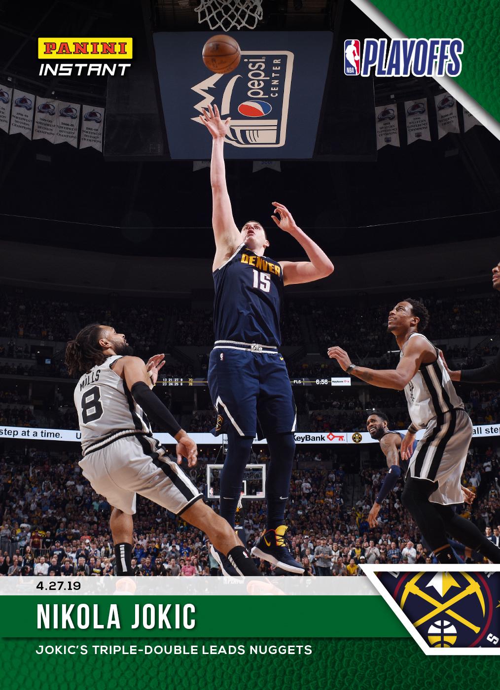 8df9dfb2f3eef Nikola Jokic – 2018-19 NBA Instant #144 – Green 1/10