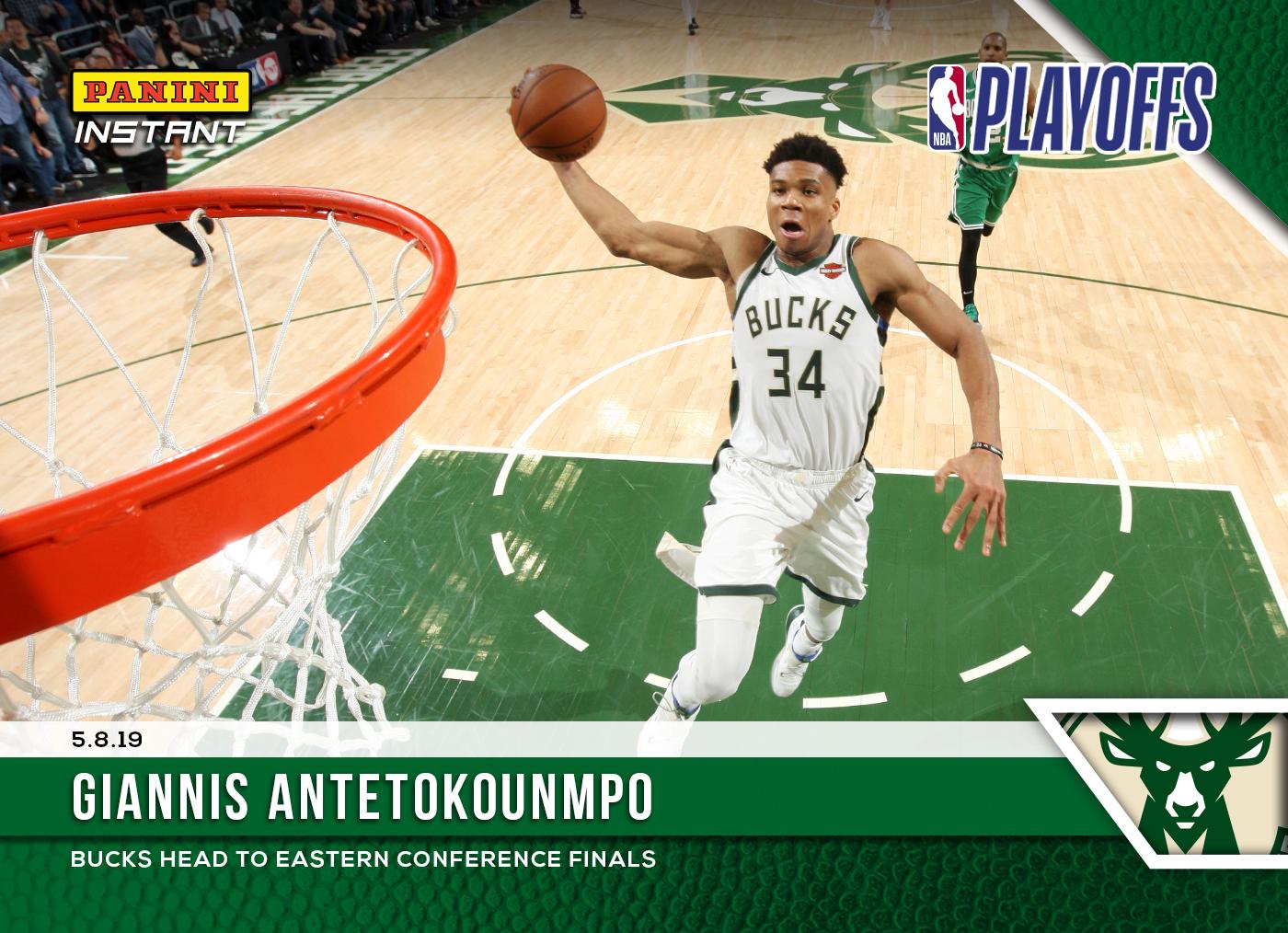 a2f0fb45eeb11 Giannis Antetokounmpo – 2018-19 NBA Instant #145 – Green 1/10