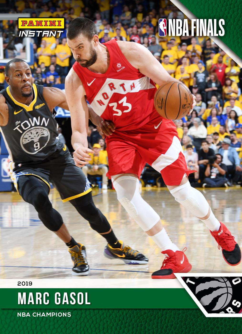 48cf0d352463e Marc Gasol – 2018-19 NBA Instant #185 – Green 1/10